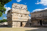 House of the Nuns, Mayan ruins of Chichen Itza. Yucatan, Mexico