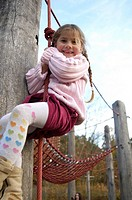 Child, girl, playground, Klettergerüst, rope, plays, does gymnastics, cheerfully, activity, 6-10 years, fun, game, adventure-playground, playground eq...