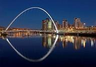 Millennium Bridge and Baltic Flour Mill, Gateshead, England, UK