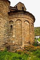 San Martín church (Mozarabic, 10th century). Oliván. Valle de Tena. Huesca province. Aragon. Spain./ La llamada Ruta del Serrablo, ´las Iglesias que l...