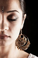 Indian woman in traditional jewelry