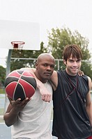 Friends with basketball