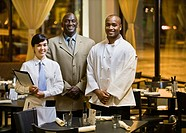 Portrait of multi-ethnic restaurant staff