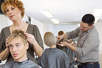 Hairstylists and clients