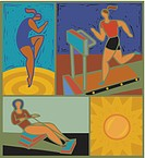 Illustration of women working out (thumbnail)
