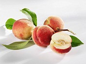 Four white peaches