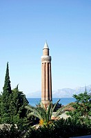 Fluted Minaret of Yivli Minaret Mosque, Antalya, Turkey