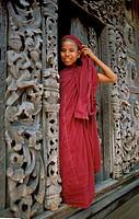 Young monk, shwenandaw kyaung (golden palace monastery), Mandalay, Myanmar