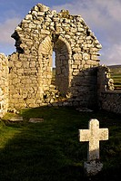 Church, with, cross, Fanore, The, Burren, County, Clare, Ireland