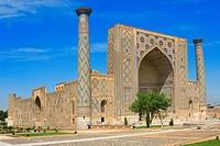Ulugh, Beg, Medressa, Registan, Samarkand, Uzbekistan,