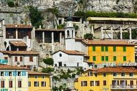 Church, Chiesa, della, Rocca, Limone, sul, Garda, Lake, Garda, Gardesana, Occidentale, Italy, Hotel, all´, Azzur,