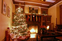 christmas room. arts and crafts home. USA