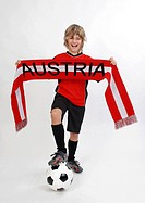 young, Austrian soccer fan