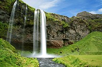 Seljalandfoss waterfall. Iceland