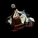 Lunar ascent module returns from Moon