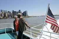 Mature couple on a ferry