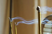 Smoke rising from incense