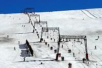 Les Deux Alpes, ski resort. Rhône-Alpes. Isere. France.