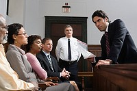 A lawyer and the jury