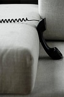 Telephone and a sofa