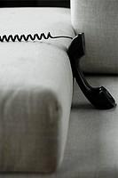 Telephone and a sofa