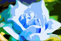 Blue rose, digital image