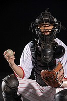 a male softball player