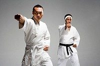 two men practicing Chinese Kungfu