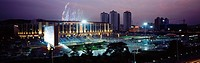 Night scene of Olympic Square of Dalian,Liaoning