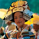 A portrait of a Yi woman in Firebrand Festival