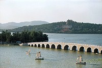 the bridge with seventeen holes in the Summer Palace,Beijing