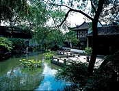 the traditional Chinese buildings in the Liu Garden in Suhzou city,Jiangsu Province