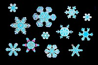 Snowflakes, digitally enhanced.