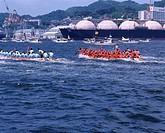 Festival, Sea, Ship, Wave, Wake, Port, Peron, Championship, Nagasaki, Nagasaki, Japan