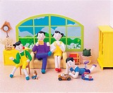 Clay Illustration, a family