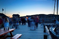 People having a party on a pier, Sweden