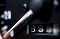 Close_up of a speedometer