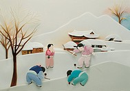 Paper Illustration, New Year\´s Holiday,Korea