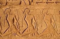 The Temple of Ramesses II _ Low relief showing African prisoners