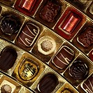 High angle view of assorted chocolates