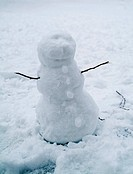 Close_up of a snowman