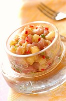 tuna, pineapple and fresh pepper tartare