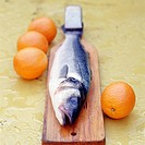Bass with oranges