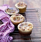 mini plum batter puddings