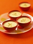 Clementine and almond paste soup