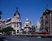 Alcala passage, Gran Via passage, Madrid, Spain, city view