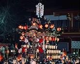 Chichibu Night Festival Chichibu shrine Chichibu Saitama Japan Paper lantern People Precincts of a temple