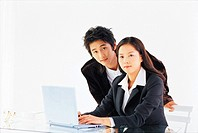 Business People Using Laptop,Korean