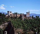 Alhambra palace, Granada, Andalucia district, Spain, World heritage, June