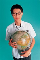 High School Student with Globe,Korean